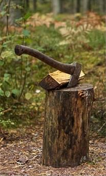 Chopping wood is part of having a cabin