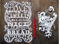 cool hand made typography