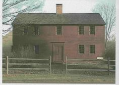Old red house...probably a saltbox :-)