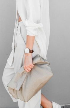 Monochromatic White Outfit | Minimal | Style by Neutrals | Street Style | HarperandHarley