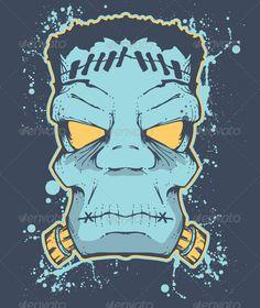 Frankenstein Halloween Designs T-Shirts Template Vector EPS. Download here: http://graphicriver.net/item/frankenstein-halloween/663226?s_rank=846&ref=yinkira
