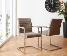 DELIFE Freischwinger Earnest Taupe Vintage Gestell Edelstahl, Esszimmerstühle Jetzt bestellen unter: https://moebel.ladendirekt.de/kueche-und-esszimmer/stuehle-und-hocker/freischwinger/?uid=882d456b-5b71-5c21-9b7c-889f57dfebef&utm_source=pinterest&utm_medium=pin&utm_campaign=boards #freischwinger #kueche #esszimmer #hocker #stuehle