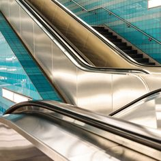 Escalators - Photo from the Systems / Layers III series.