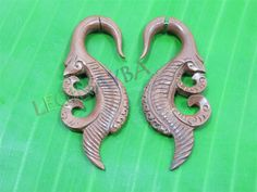 wooden fake gauges by Leginayba on Etsy, $6.99 #tribal earrings #tribal style #wooden earrings #FakeGauge #FauxGauge #OrganicJewelry #Eco Jewelry