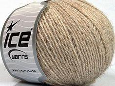 Alpaca Superfine Sport Beige  Fiber Content 43% Acrylic, 4% PBT, 36% Alpaca Superfine, 17% Merino Wool, Brand ICE, Beige, Yarn Thickness 2 Fine  Sport, Baby, fnt2-55049 Ice Yarns, Merino Wool, Sports, Content, Hs Sports, Sport