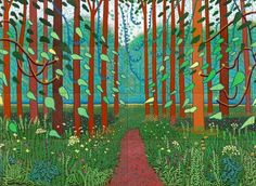 David Hockney, The Arrival of Spring in Woldgate, East Yorkshire, 2011