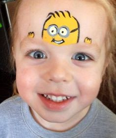 Picture result for children make-up minions - Hobbies paining body for kids and adult Face Painting For Boys, Face Painting Designs, Paint Designs, Minion Face Paint, Grimm, Minions, Cheek Art, Butterfly Face, Show And Tell