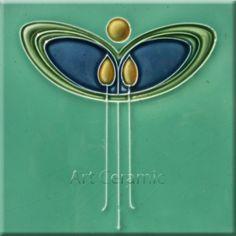 Art Nouveau Ceramic decorative wall tile 6 X 6 Inches #1a in Home & Garden, Home Décor, Tile Art   eBay
