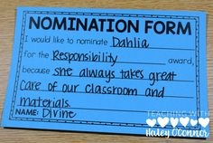 Student Nomination Form