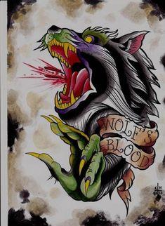 Wolf's Blood Tattoo Design