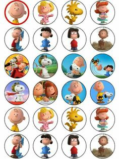 Charlie Brown & Snoopy The Peanuts Movie ICING Cupcake Topper in Home & Garden, Parties, Occasions, Cake Charlie Brown Halloween, Charlie Brown Tree, Charlie Brown Christmas, Charlie Brown And Snoopy, Peanuts Gang Birthday Party, Snoopy Birthday, Snoopy Party, Peanuts Movie, Peanuts Snoopy