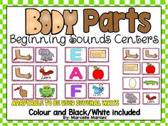 Connect MY BODY with literacy using this beginning sounds MY BODY THEME centre activity