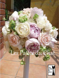 ウェディングフラワーセレクトショップ ~レ・パデュシャ~(WeddingFlowerSelectshop ~Les Pattes du Chat~)... バラのナチュラルブーケ