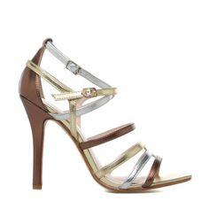 Kineta metallic sandals - ShoeDazzle