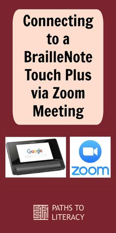 Learn how to connect to a BrailleNote Touch Plus via Zoom Meeting when teaching braille students via distance learning Multiple Disabilities, Learning Disabilities, Visually Impaired Activities, Folder Games, File Folder, Preschool Special Education, Assistive Technology, Education Humor, School Psychology