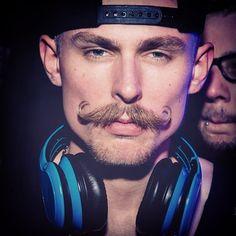 Simon Gerber handlebar moustache