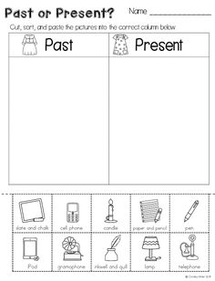 Long ago and today informative writing activities and a freebie! Included in this long ago unit are anchor charts, sorts, student worksheets and an interactive social studies flap book. Social Studies Worksheets, Social Studies Activities, Teaching Social Studies, Writing Activities, Classroom Activities, Classroom Ideas, Kindergarten Social Studies Lessons, Preschool Classroom, Educational Activities