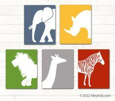 Nursery Art, Jungle Theme Art, Pick 2