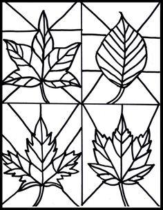 déco fenêtre automne dessins de feuilles
