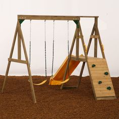 Diy wooden swingset on a budget diy swing boys and for Small wooden swing sets