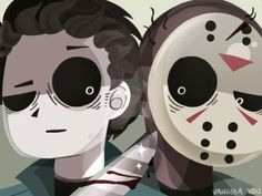 Michael Myers Jason Voorhees by - Ahh - Alles Uber Kinofilme Horror Icons, Horror Films, Horror Art, Sexy Horror, Funny Horror, Scary Movie Characters, Scary Movies, Jason Voorhees, Michael Myers And Jason