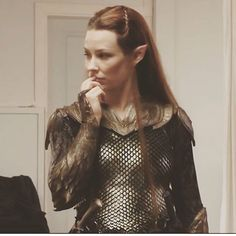 Checking out the booty😂 I love this outfit though😍💕 I wish they used it ugh I'm going to see Mockingjay pt.2 tonight😁😱😁 wish me luck! #LotR #thehobbit #tauriel