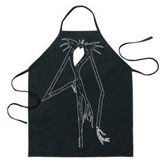 Cook as the Pumpkin King ! The Nightmare Before Christmas Jack Be The Character Apron makes it look like you're Jack Skellington from the classic Disney stop motion animated film ! Adjustable ties mak