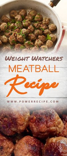 If you want to try out some delicious WW Meatball Recipes, you came to the right place! I made these last week but used ground turkey instead of beef Weight Watchers Meatball Recipe, Weight Watchers Soup, Weight Watchers Desserts, Meatball Recipes, Hamburger Recipes, Ww Recipes, Cooking Recipes, Healthy Recipes, Cooking Time