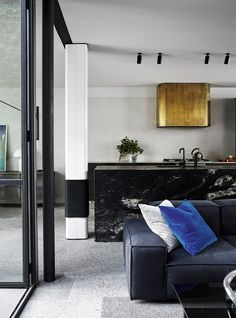 Fitzroy House is a interior design project recently completed by Fiona Lynch Interior Design office. The Lara Boot Factory in Fitzroy . Timber Wall Panels, Timber Walls, Timber Panelling, Curved Walls, Patio Interior, Office Interior Design, Kitchen Interior, Placard Design, Melbourne Apartment