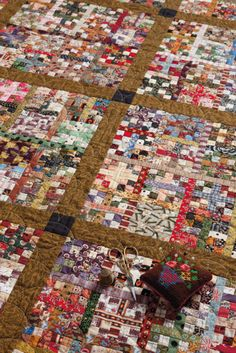 The trick to tiny piecing? Batchwork patchwork. WHOA!!!!!!!!!!!!!!!