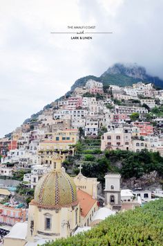 The Amalfi Coast with Lark & Linen  Read more - http://www.stylemepretty.com/living/2013/06/13/the-amalfi-coast-with-lark-linen/