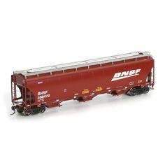 HO RTR Trinity Covered Hopper, BNSF/Wedge #488470 (ATH89283): Athearn Trains
