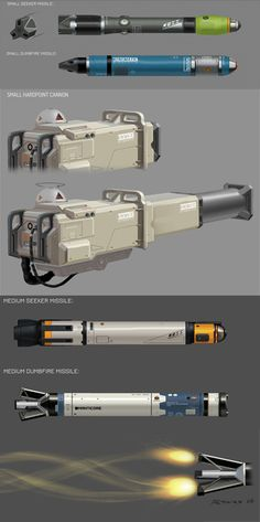 RYVAX • Some weaponry I designed for Elite:Dangerous .. ...