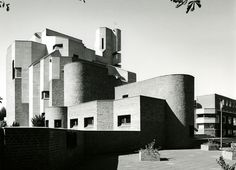 """Church """"Christi Auferstehung"""" (1964-70) in Cologne, Germany, by Gottfried Böhm """""""