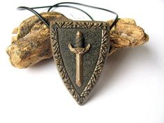 Medieval jewelry Sword necklace Men jewellery gift Gift for