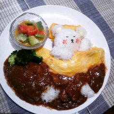 Nap of bear  FACEBOOK=  https://www.facebook.com/wabisabi.mode.hokkaido/  #札幌  #北海道  #sapporo  #弁当 #visitjapan #restaurant  #日本  #character  #キャラ弁 #anime