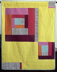 Citrus Play by Heather Black the Creativity Project Week 18 Kim Soper/Leland Ave Studios Cute Quilts, Small Quilts, Baby Quilts, Quilting Projects, Quilting Designs, Quilt Design, Modern Quilt Blocks, Modern Quilting, Quilt Modernen