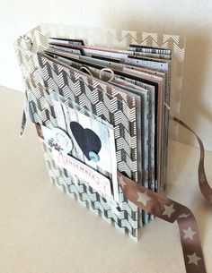 MINI ALBUM with ribbon ties closure