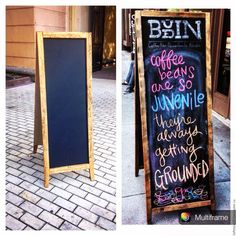 Купить Меловой рекламный штендер - разноцветный, деревянный стритлайн, реклама писать мелом, уличная реклама