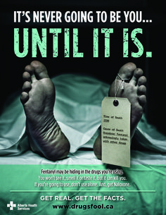Image result for purchase fentanyl warning posters