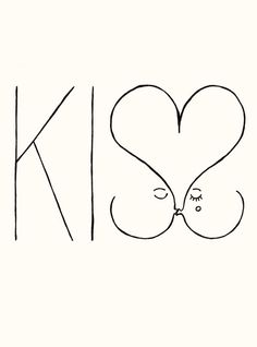 For some reason I find this incredibly cute, but also kinda freaky. Incredibly cute is winning. Ha. ---> Kiss