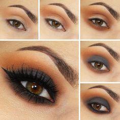 Seduce con unos ojos ahumados y una sombra café de fondo. | 15 Tutoriales de sombras para todas las amantes del maquillaje