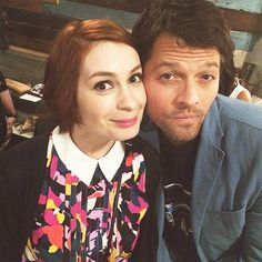 Misha Collins and Felicia Day SPN 200th episode fan party