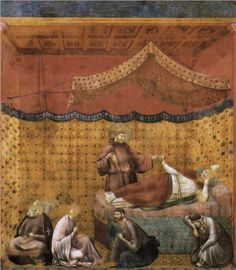Giotto  Dream of St. Gregory  1300  San Francesco, Upper Church, Assisi, Italy
