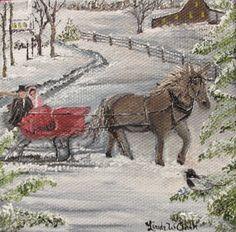 """Dashing Through the Snow"" by Linda W Clark"