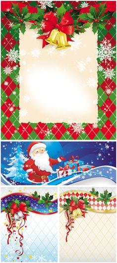 Cartoon Christmas backgrounds vector