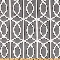 54'' Wide DwellStudio Bella Porte Charcoal Fabric - modern - fabric - Amazon