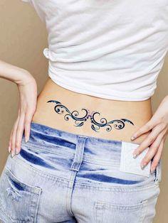 Art Plus Crystal Flower Waterproof Waist Tattoo - BuyTrends.com