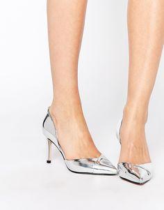 ASOS SCORE Heels in Silver $51