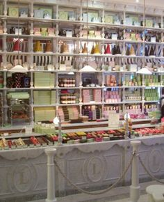 Candy as eye candy (as only the French can do.)  La Duree in Paris.